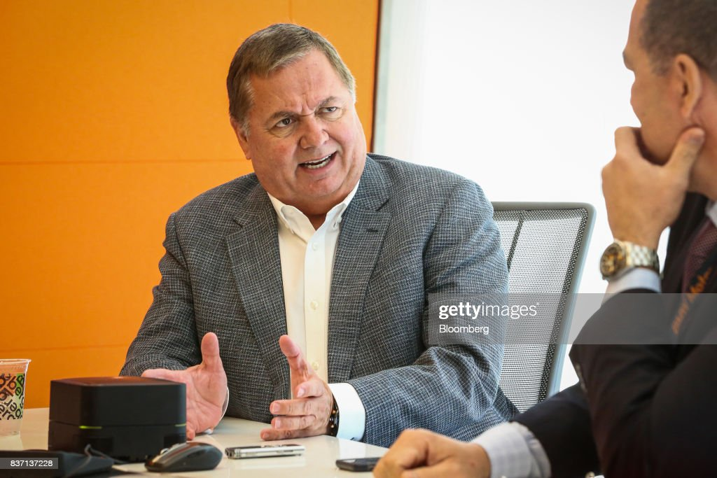 Hernan Rincon, president and chief executive officer of Avianca Holdings SA, speaks during an interview in New York, U.S., on Tuesday, Aug. 22, 2017. Rincon discussed United Continental Holdings Inc. negotiations and competition in low-cost carriers. Photographer: Christopher Goodney/Bloomberg via Getty Images