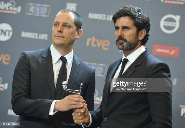 Hernan Zin attends the 'Platino Awards 2017' winners photocall at La Caja Magica on July 22 2017 in Madrid Spain He receives the Best documentary...