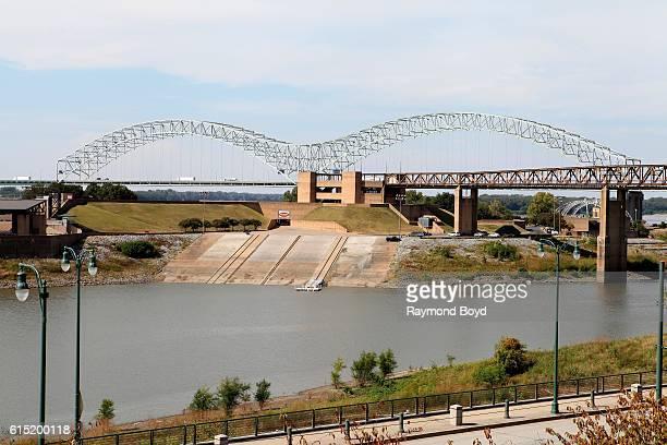 Hernando De Soto bridge in Memphis Tennessee on October 4 2016