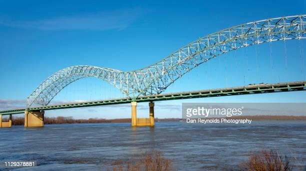 hernando desoto bridge, memphis - memphis bridge stock photos and pictures
