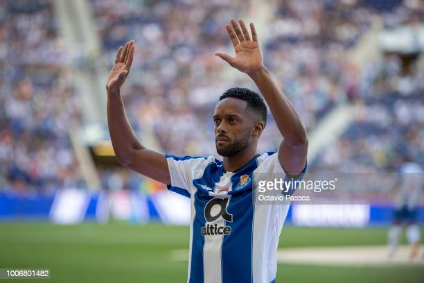 Hernani of FC Porto during the team presentation prior to the preseason friendly match between FC Porto and Newcastle at Estádio do Drago on July 28...