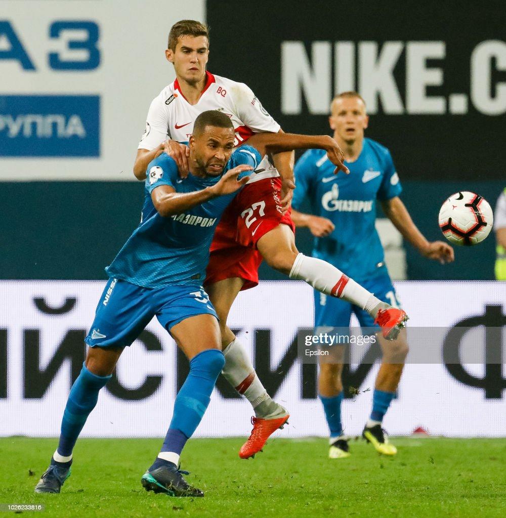 FC Zenit Saint Petersburg vs FC Spartak Moscow- Russian Premier League : News Photo