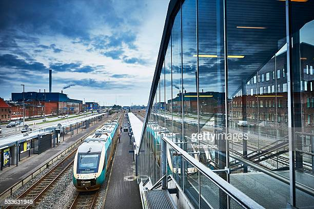 Herning Station with glass facade