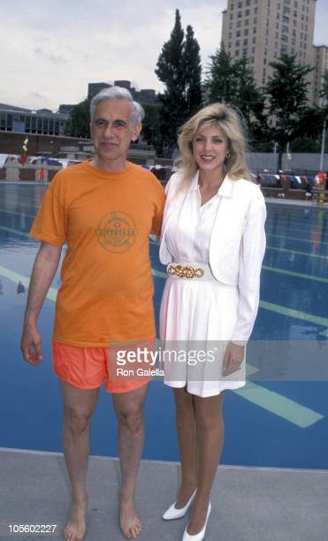 Herny Stern and Marla Maples during Kick Off Ceremony for Learn to Swim June 30 1994 at Hamilton Fish and Recreation Center in New York City New York...