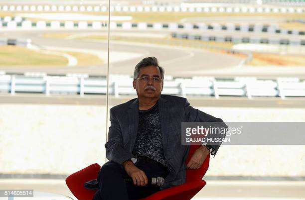 Hero chairman Pawan Munjal attends a press conference after the inauguration of the auto giant's new 'Centre of Innovation and Technology' facilities...