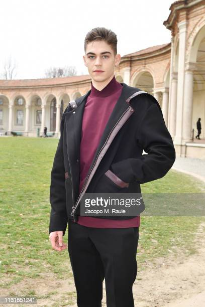 Hero Fiennes attend the Salvatore Ferragamo show during Milan Fashion Week Autumn/Winter 2019/20 on February 23 2019 in Milan Italy