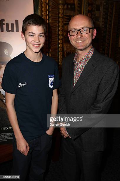 Hero Fiennes Tiffin and Simon Reade attends the premiere of Private Peaceful at the Curzon Mayfair on October 3 2012 in London England