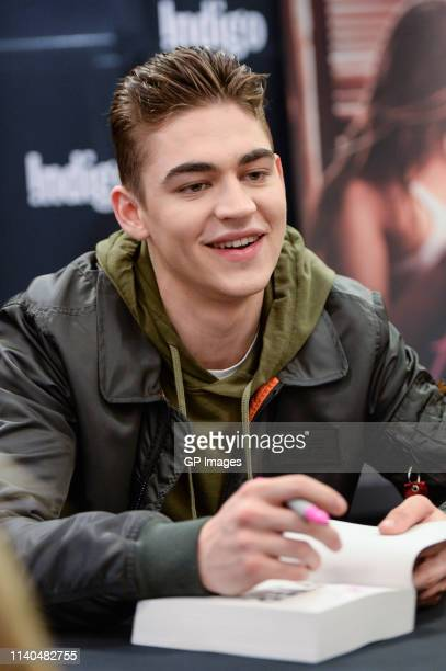 "Hero Fiennes Tiffin attends the ""After"" book signing at Indigo Yorkdale on April 04, 2019 in Toronto, Canada."