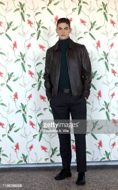 Hero Fiennes Tiffin attends the photocall for After at Hotel Palazzo Naiadi on March 30 2019 in Rome Italy
