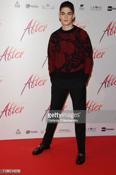 "Hero Fiennes Tiffin attends the photocall for ""After"" at on March 29, 2019 in Milan, Italy."