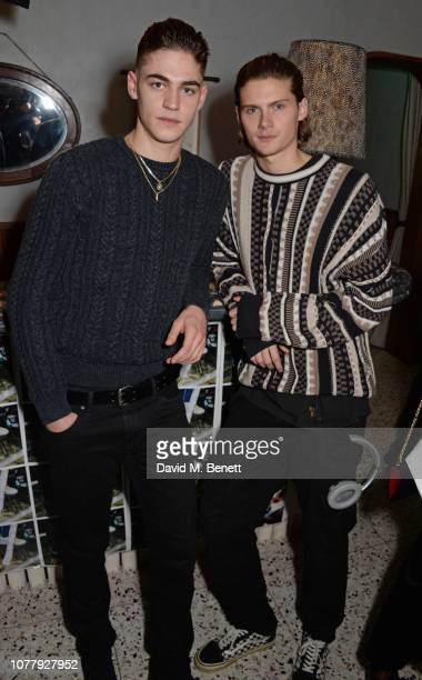 Hero FiennesTiffin and Fabian Gray attend a VIP dinner celebrating the What We Wear x Filling Pieces sneaker collaboration during London Fashion Week...