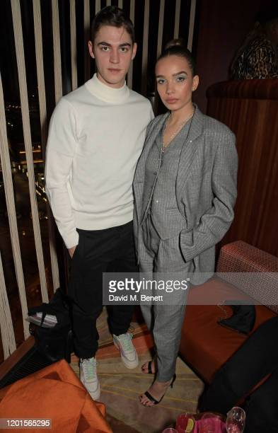 Hero Fiennes-Tiffin and Hana Cross attend the LOVE Magazine LFW Party, celebrating issue 23 at The Standard, London on February 17, 2020 in London,...