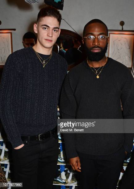 Hero FiennesTiffin and Moses Opiah attend a VIP dinner celebrating the What We Wear x Filling Pieces sneaker collaboration during London Fashion Week...