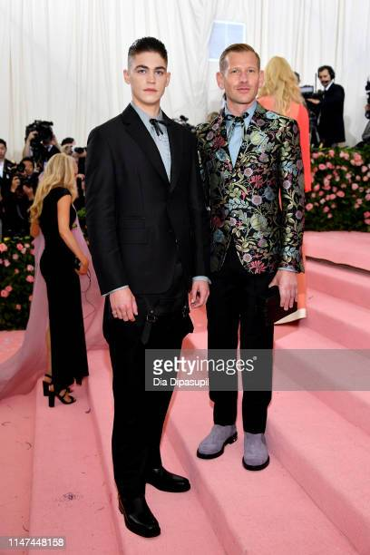 Hero FiennesTiffin and Paul Andrew attend The 2019 Met Gala Celebrating Camp Notes on Fashion at Metropolitan Museum of Art on May 06 2019 in New...