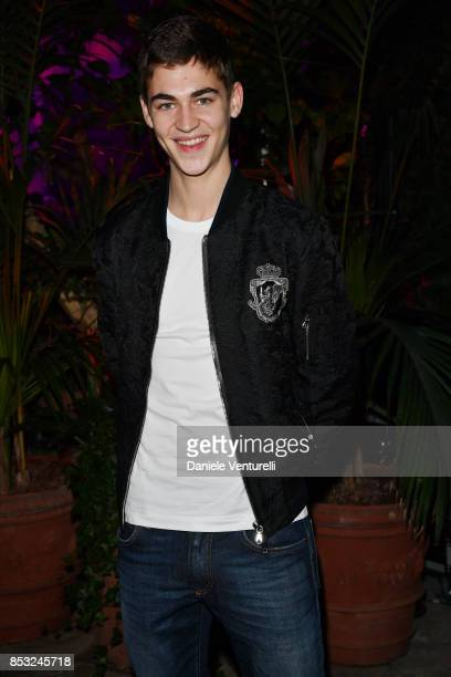 Hero FiennesTiffin attends Dolce Gabbana Queen Of Hearts Party show during Milan Fashion Week Spring/Summer 2018 at on September 24 2017 in Milan...