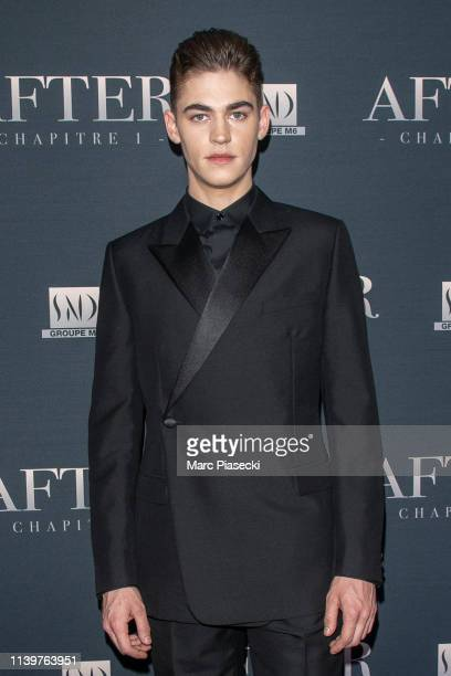 Hero FiennesTiffin attends the 'After' screening at Hotel Royal Monceau Raffle on April 01 2019 in Paris France