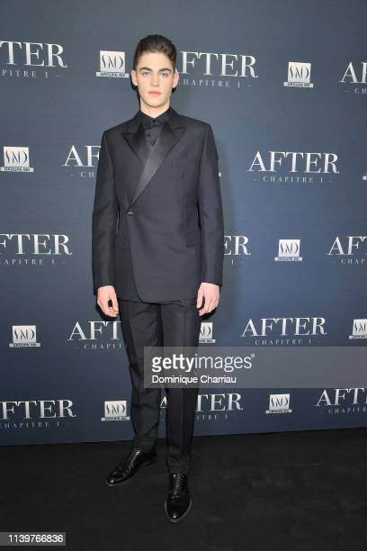 Hero FiennesTiffin attends the After Screening At Hotel Royal Monceau on April 01 2019 in Paris France