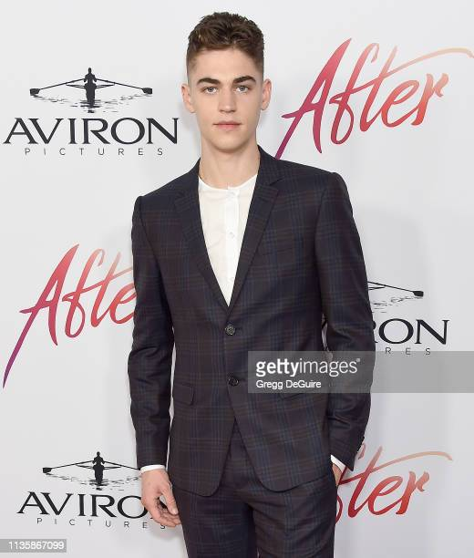 Hero FiennesTiffin attends the Los Angeles Premiere Of Aviron Pictures' After at The Grove on April 8 2019 in Los Angeles California