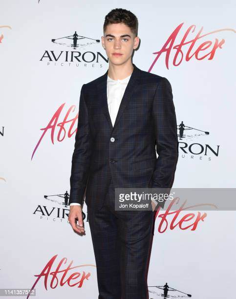 Hero FiennesTiffin attends the Los Angeles premiere of Aviron Pictures' After at The Grove on April 08 2019 in Los Angeles California