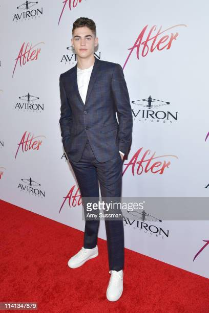 Hero FiennesTiffin attends the premiere of Aviron Pictures' After at The Grove on April 08 2019 in Los Angeles California