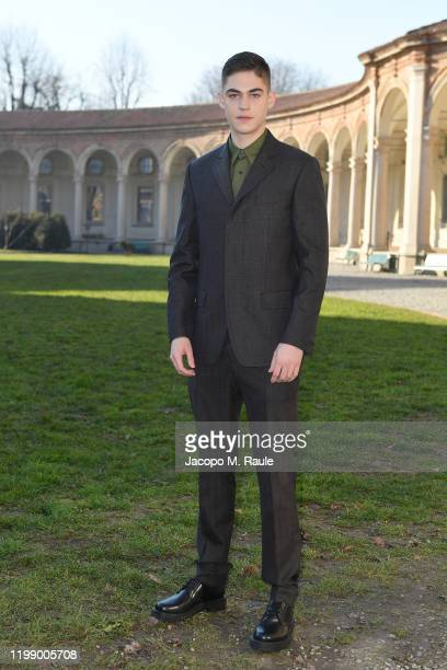 Hero FiennesTiffin attends the Salvatore Ferragamo show during during Milan Men's Fashion Week Fall/Winter 2020/2021 on January 12 2020 in Milan Italy