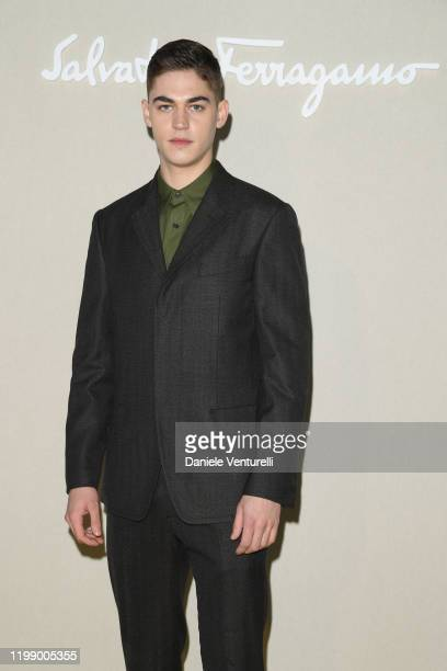 Hero FiennesTiffin attends the Salvatore Ferragamo show during Milan Men's Fashion Week Fall/Winter 2020/2021 on January 12 2020 in Milan Italy