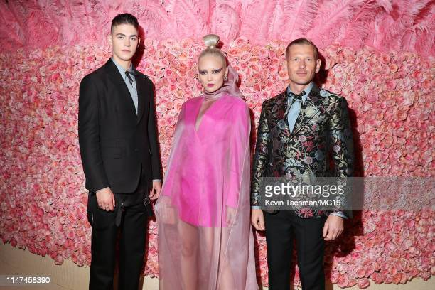 Hero FiennesTiffin Pom Klementieff and Paul Andrew attend The 2019 Met Gala Celebrating Camp Notes on Fashion at Metropolitan Museum of Art on May 06...