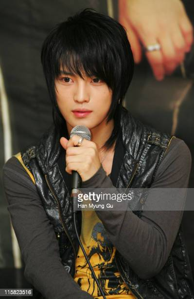 Hero JaeJoong of DongBangSinki during DongBangSinki on Location for 'Loving On Earth' at Gwangju Church in Gwangju City Gwangju South Korea