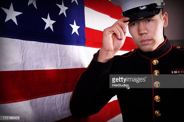 hero - us marine corps stock pictures, royalty-free photos & images