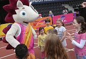 london england hero hedgehog mascot for