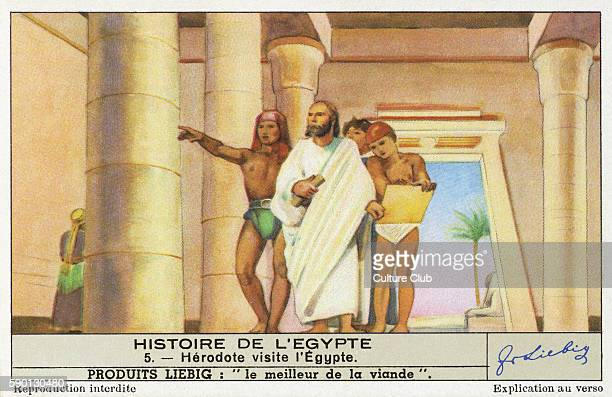 Herodotus. Greek historian wrote An Account of Egypt in The Histories. Some critics have questioned whether he actually visited Egypt.