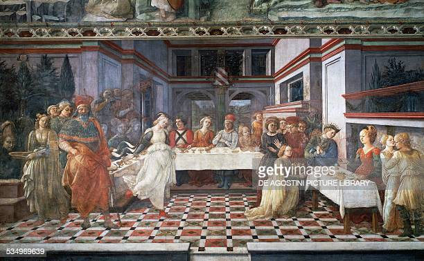Herod's Banquet or Dance of Salome fresco by Filippino Lippi Cathedral of Prato Tuscany Italy 15th century