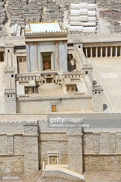 herods temple. antonia fortress. jerusalem in the second temple period. the israel museum. - antonia fortress stock pictures, royalty-free photos & images