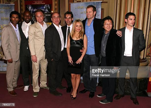 Heroes cast members Sendhil Ramamurthy Jimmy JeanLouis David Anders Jeph Loeb Adrian Pasdar Hayden Panettiere Jack Coleman Masi Oka and Milo...