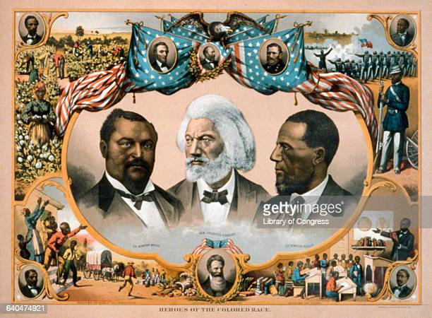 Heroes of the Colored Race Lithograph