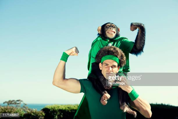 heroes of the environment - monkey stock pictures, royalty-free photos & images