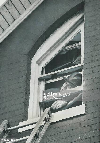 Heroic fireman was too late A 6monthold baby died after a fire in this Gerrard St E home where a firefighter gropes desperately for a ladder Fireman...