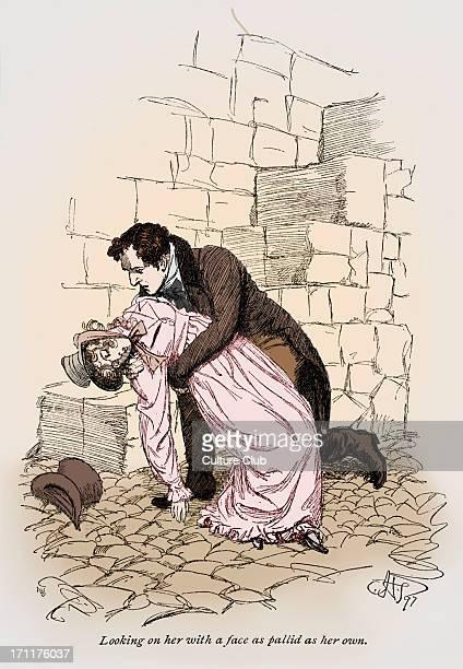 Heroine faints in hero 's arms