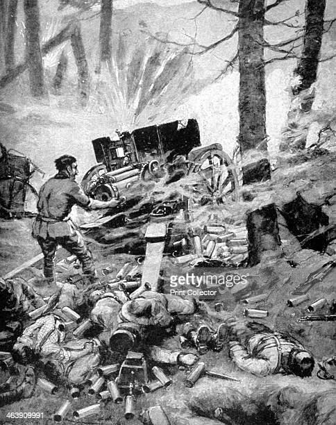 'Heroism of a Italian 75mm Battery' World War I 1915 A print from Le Pays de France 30 September 1915