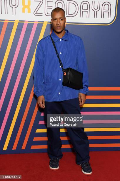 Heron Preston attends the Tommy Hilfiger TOMMYNOW Spring 2019 TommyXZendaya Premieres at Theatre des ChampsElysees on March 02 2019 in Paris France