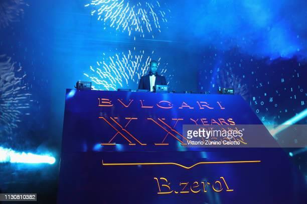 Heron Preston performs during the Bvlgari BZERO1 XX Anniversary Global Launch Event at Auditorium Parco Della Musica on February 19 2019 in Rome Italy