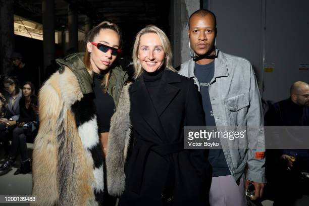 Heron Preston Sabrina Albarello and guest attend the Les Benjamins Menswear Fall/Winter 2020-2021 show as part of Paris Fashion Week on January 17,...