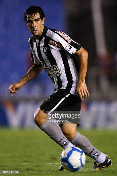 Herrera of Botafogo in action during a match against Flamengo as part of Brazilian Championship at Maracana Stadium on July 14 2010 in Rio de Janeiro...