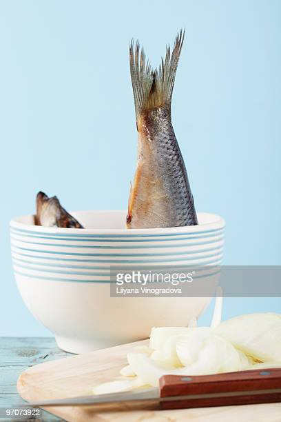 Herring and sliced onion