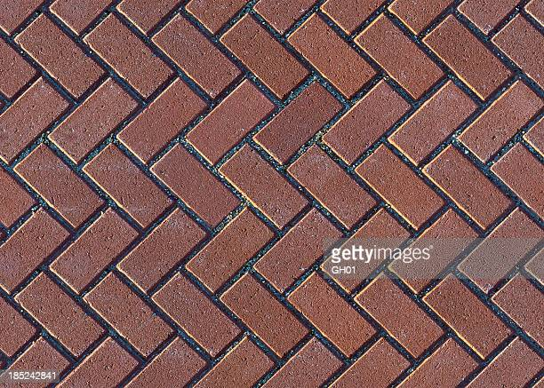 herringbone brick pavers - brick stock pictures, royalty-free photos & images