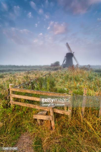 herringfleet windmill ii - suffolk england stock photos and pictures