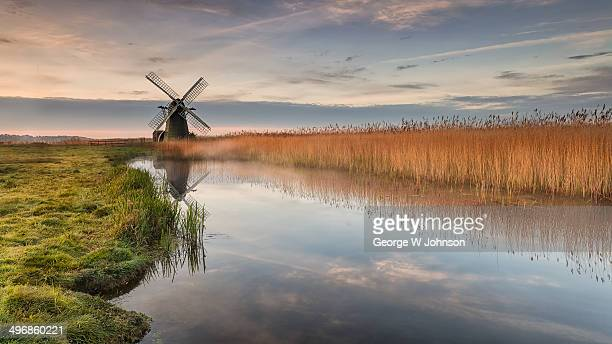 herringfleet windmill - suffolk england stock photos and pictures