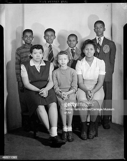 Herron Hill Junior High School students Sara Ann Trower Shirley Lightfoot Ruth Phelps Derrick Bell William Green Robert L Hughes and Donald Stockes...