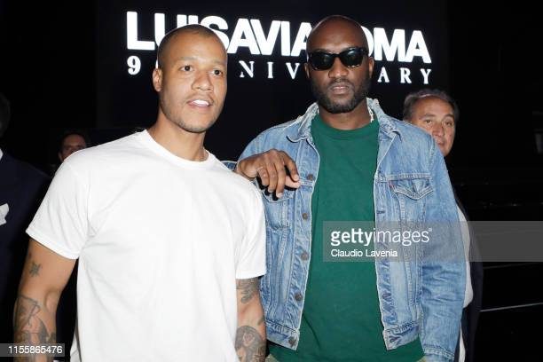 Herron Preston and Virgil Abloh attend the CR Runway x LuisaViaRoma Event during Pitti Immagine Uomo 96 on June 13 2019 in Florence Italy