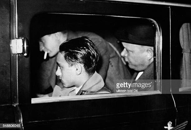 Herschel Grynszpan * Polish assassin photographed in Paris after his arrest for assassinating German diplomat Ernst Eduard vom Rath Photographer...